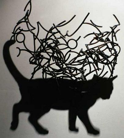 Gatto nero - Larry Kagan - shadow art