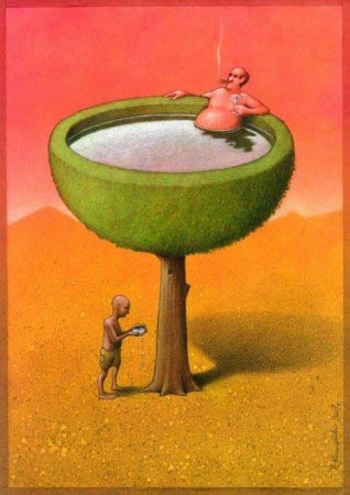 Pawel Kuczynski - Riches have all, poors have remains