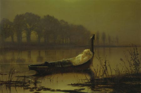 John Atkinson Grimshaw - The Lady of Shalott