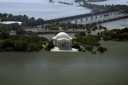 Nickolay Lamm - Jefferson Memorial sommerso dal mare - 3,5 metri