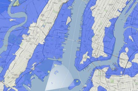 Nickolay Lamm - New York City sommersa dal mare - 7,5 metri (mappa)