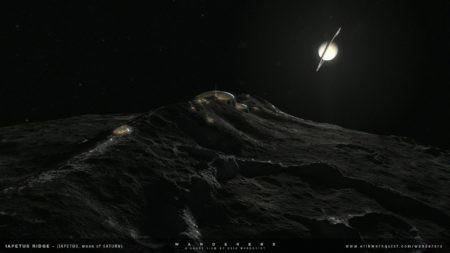 Saturn - Iapetus ridge