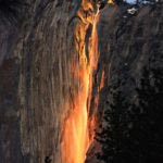 Cascata Horsetail - Yosemite Valley, California