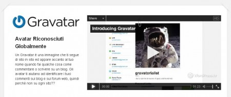 inserire gravatar in wordpress