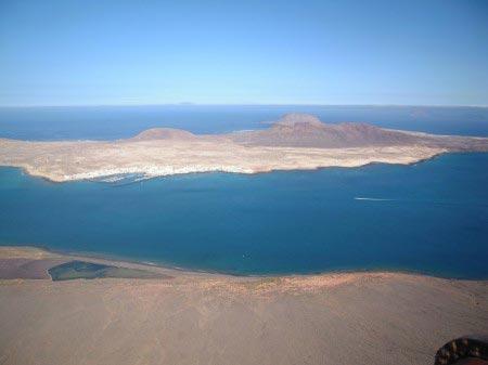 Isla Graciosa vista dall'alto