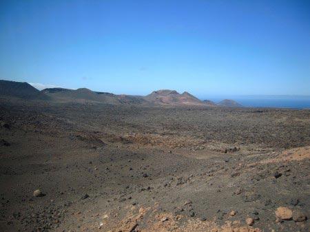 Terreno di roccia vulcanica