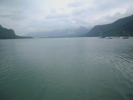 Austria - Orizzonte del lago Wolfgangsee