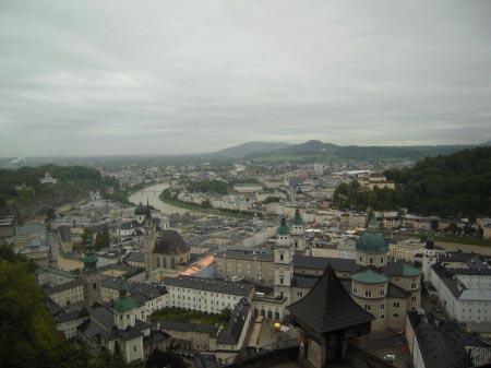 Fortezza Hohensalzburg - vista dall'alto