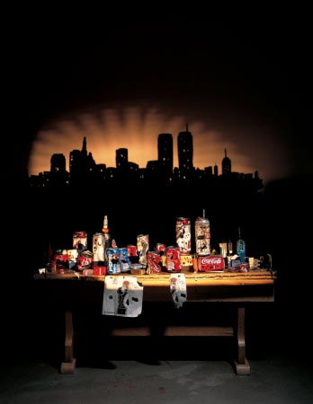Sunset over Manhattan, di Tim Noble e Sue Webster