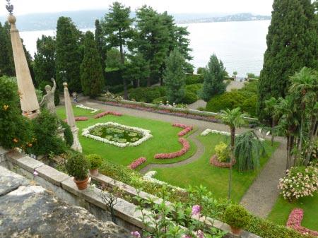 Borromee - Isola Bella - Giardini dall'alto