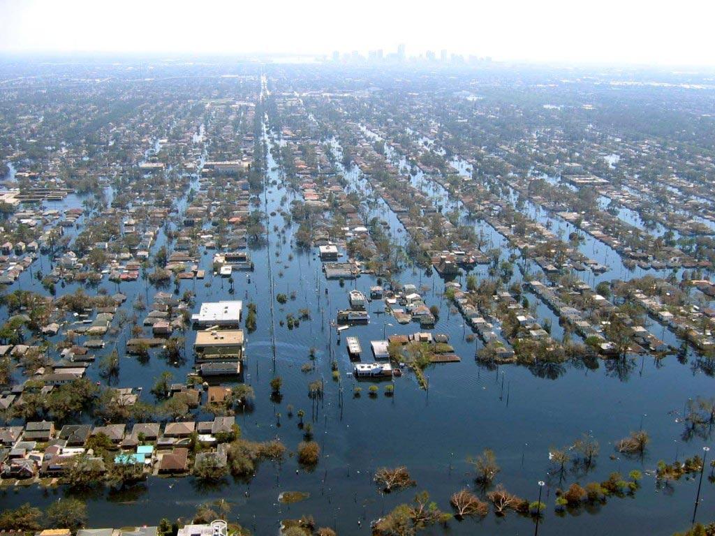 Uragano Katrina 2015 - effetti alluvione