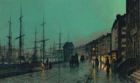 John Atkinson Grimshaw - Shipping on the Clyde