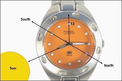 Orientarsi con l'orologio e le lancette - Trovare il Nord