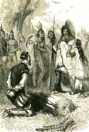 Pocahontas salva la vita di John Smith