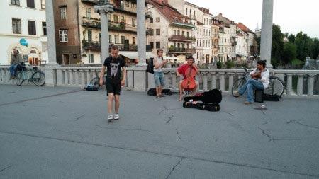 Slovenia - Lubiana - Artisti di strada