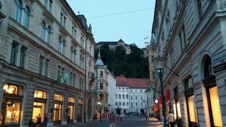 Slovenia - Lubiana - Castello di Lubiana sullo sfondo