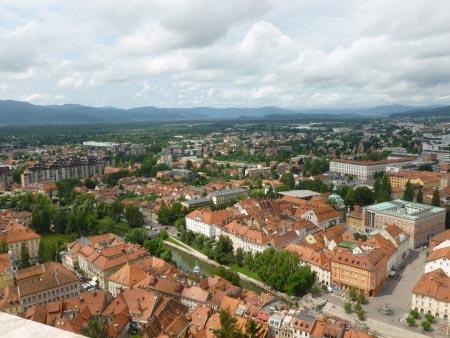 Slovenia - Lubiana - Panoramica dall'alto