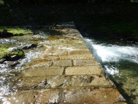 Cascate dell'Acquafraggia - Gradini del torrente