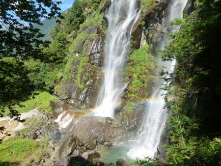 Cascate dell'Acquafraggia - Impatto con arcobaleno
