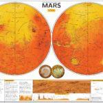 La mappa geografica di Marte in alta risoluzione