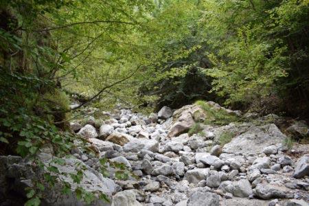 Valle dei Mulini - Letto sassoso del torrente