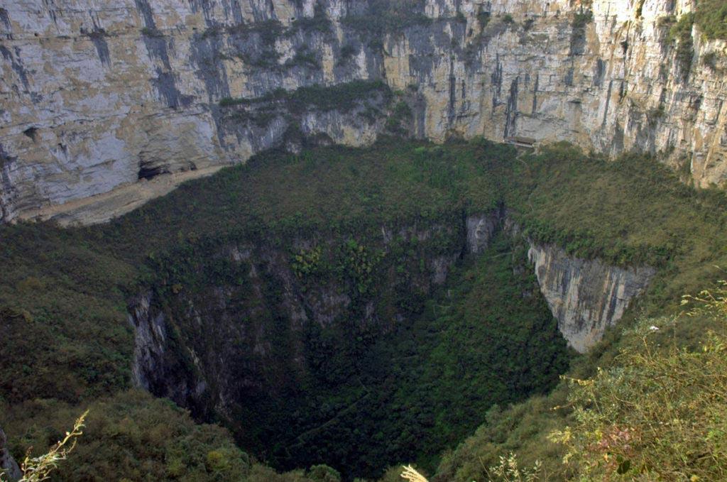 Sinkhole Xiaozhai Tiankeng