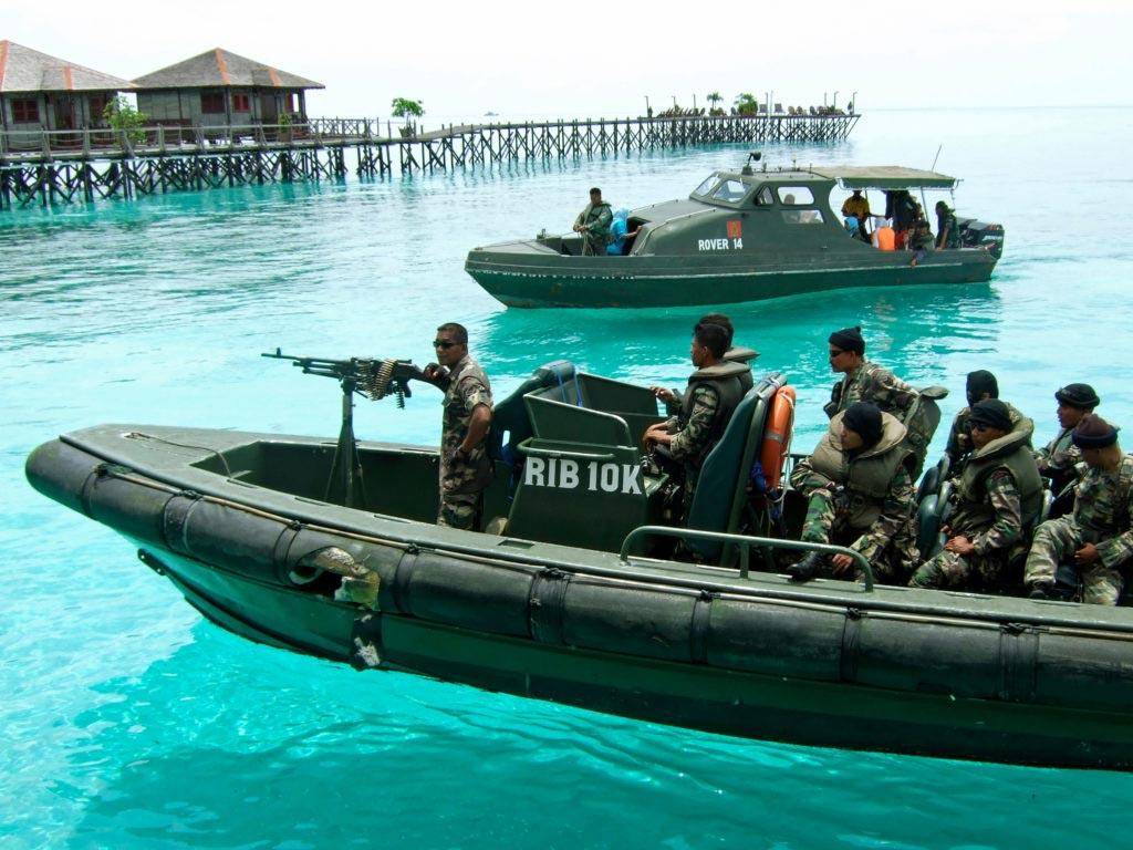 Soldati in Malesia contro la pirateria