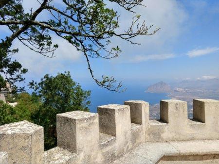Sicilia occidentale - Erice - Panorama dalla terrazza