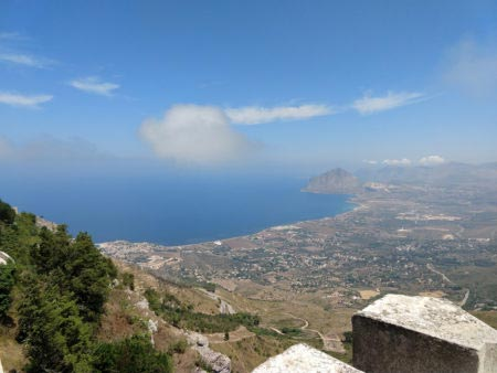 Sicilia occidentale - Erice - Panorama del mare