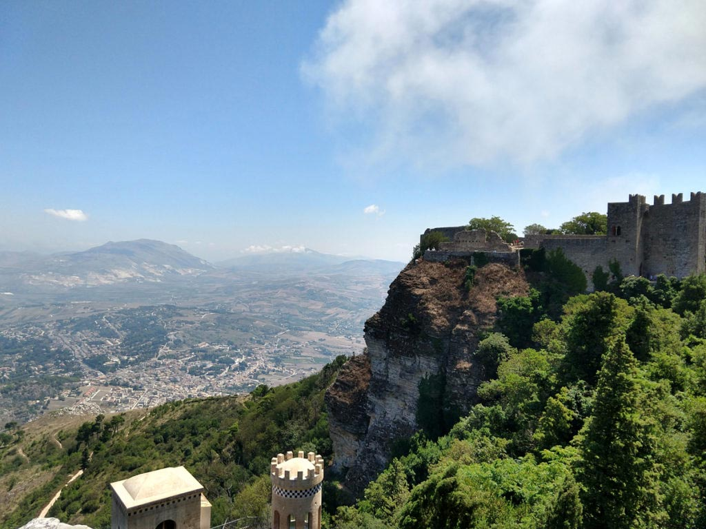 Sicilia occidentale - Erice - Panorama della Sicilia