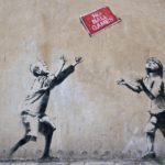 Graffiti di Banksy - War and peace