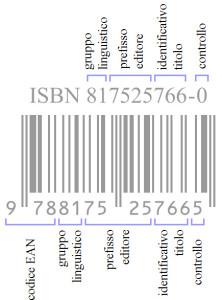 ISBN - Esempio con 10 e 13 cifre
