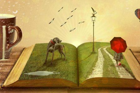 Immagini che escono dalla storia di un libro