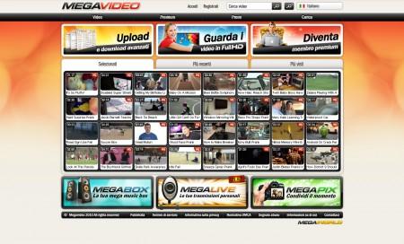 Megavideo - homepage
