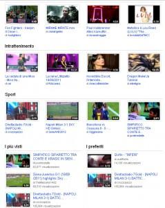 Schermata di esempio di Youtube