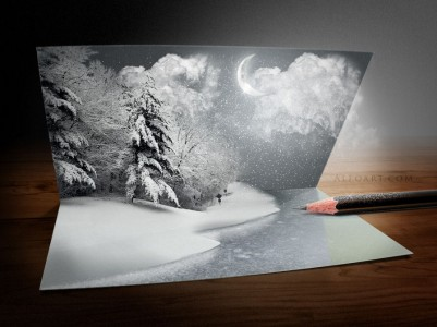 Tutorial - Paesaggio innevato in 3D