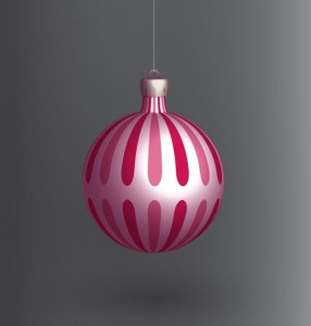 Palla di Natale rossa in 3D