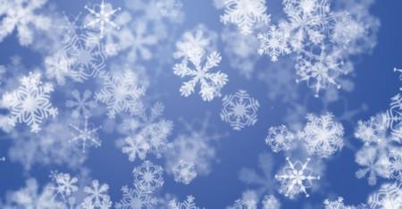 Sfondo cobalto con fiocchi di neve