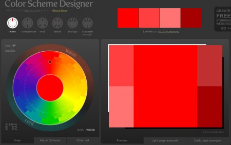 Color Scheme Designer - screenshot