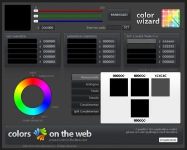 Colors of the web - screenshot