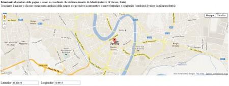 Google Maps con istruzioni e due campi input