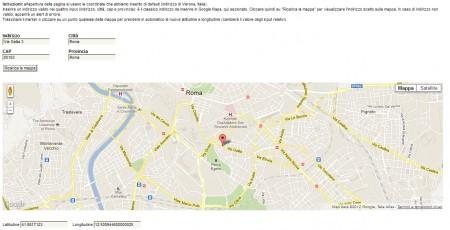 Google Maps con istruzioni e campi input