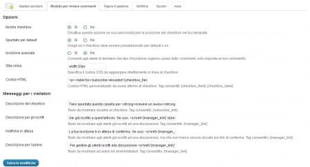 Subscribe to Comments Reloaded - scheda Modulo per inviare commenti
