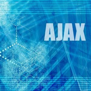 Ajax - scritta su fondo azzurro