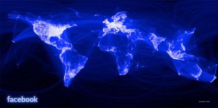 Mappa del mondo in blu con parti bianche