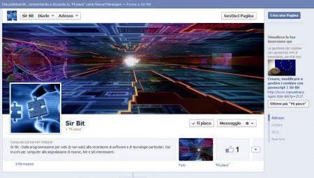 Pagina di Sir Bit su Facebook