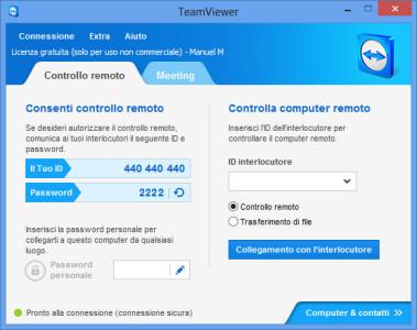 TeamViewer - schermata principale